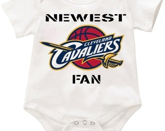 Newect Cleveland Cavs Fan Infant Onesie