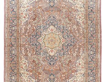 9x12.7 Ft Exceptional Mid Century Turkish Rug. Decorative old Handmade carpet with traditional design. Ideal for home & office A385