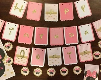 Made to order party set, birthday banner, center piece, thank you tags, favor tags, digital invitation, cup cake toppers, celebration set