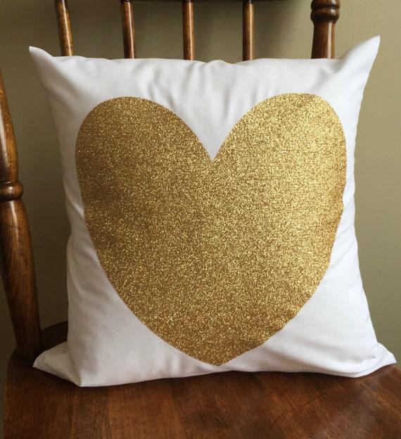 Https Www Etsy Com Listing 269388490 Glitter Heart Home Decor Pillow 14x14