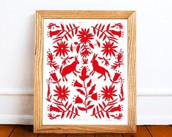 Otomi Home Decor, Otomi Printable Art, Mexican Otomi Decor