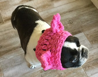 PINK Dog Pussyhat, Small Dog or Cat Hat , Dog Clothes, Pet Supplies, Dog Clothing, Dog Accessories, Pet Accessory, Make To Order