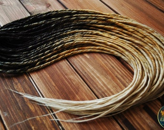 Synthetic double ended dreads black brown blonde synthetic hair extensions kk natural look thin dreadlocks