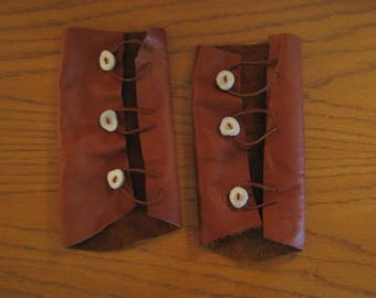 Pair of Leather Archery Bracers