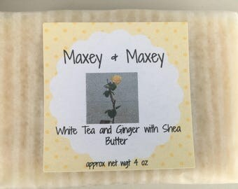 White Tea & Ginger with Shea Butter Soap