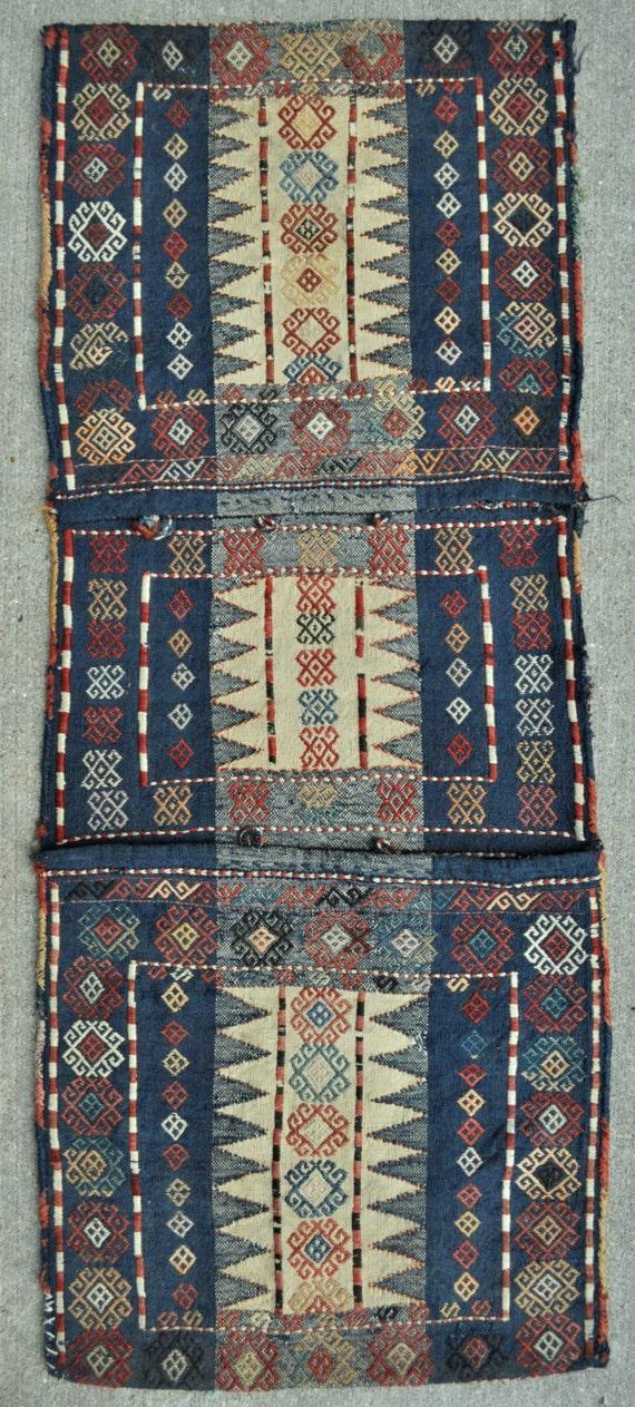 """Caucasian Saddle Bags - Shahsavan Nomadic Tribal bags - 20"""" x 48"""" - Free shipping!"""