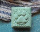 Mountain Rain Dog Pawprint Shaped Homemade Soap Bar {For Humans} With Essential Oils // Gift Soap // READY to SHIP!
