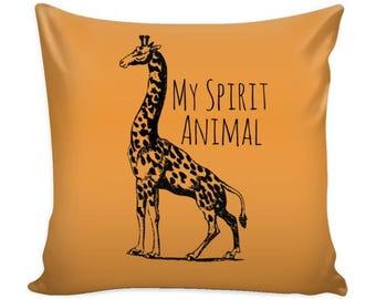 Giraffe My Spirit Animal Pillow Cover