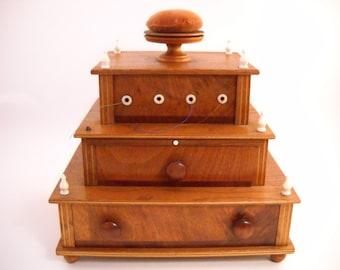 3 Tierd Fancy Antique Sewing Box