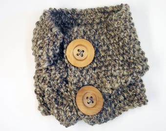 Perfect Cosy Brown Cowl Scarf