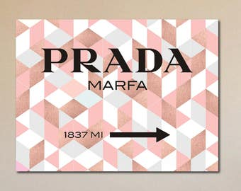 prada marfa sign etsy. Black Bedroom Furniture Sets. Home Design Ideas
