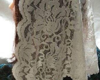 Ivory Shimmer Veil