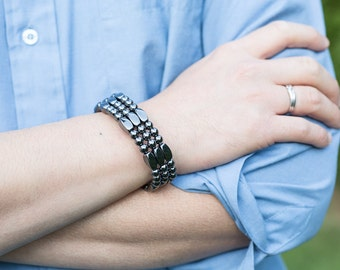 Magnetite Magic Triple Strand (Magnetic Bracelet, Necklace, Anklet) - Classic Collection - Compose