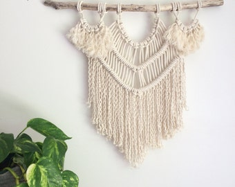 Macrame KIT Wall Hanging DIY || Driftwood + Cotton Rope + Pattern || Creative Gift for Her || Simple Easy Design for Beginner