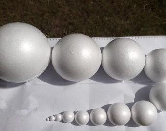 2/3/4/5/6/8cm Styrofoam Balls/Polystyrene Ball for  Kindergarten/Party Decoration/Craft DIY Supplies 012