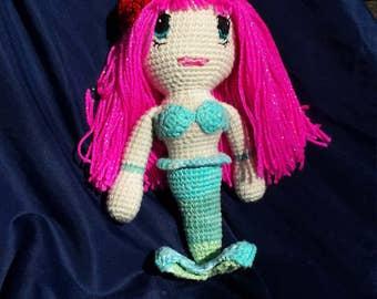Custom crocheted mermaid