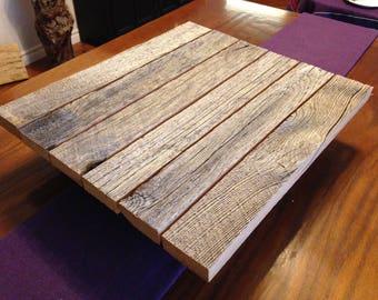 Wood Cake Stand , Barn Board , Reclaimed Wood , Rustic Cake Stand