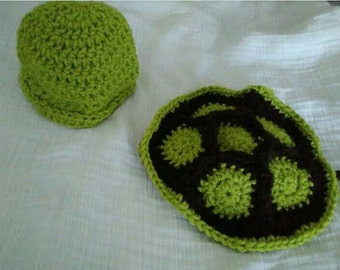 Crochet newborn turtle Outfit photo prop