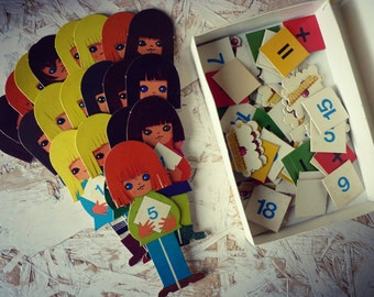 """Game - """"it is just"""" - educational vintage game to learn addition and subtraction - first"""