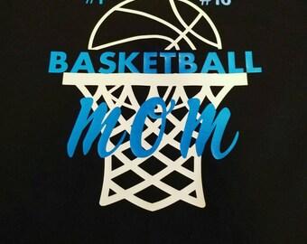 Short sleeve basketball mom, basketball mom, basketball mom shirt, Sports mom, basketball team, basketball team moms, basketball shirt