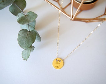 """Necklace """"Make a wish"""" gold goldfilled"""