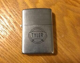 1940's Zippo Lighter - Tyler - HE Humphreys Co Refrigerating Engineers and Distributors