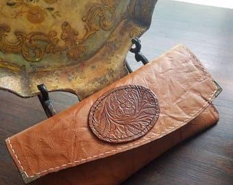 Tan/Cognac Leather Clutch