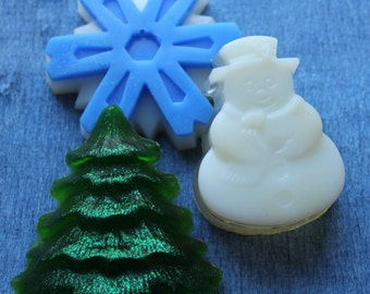 Set mini soaps Christmas party gift Christmas gift mini soaps Christmas guests soaps Guests soaps Winter holidays soaps Mini soaps set  Soap