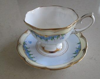 Royal Albert Crown China Tea Cup and Saucer