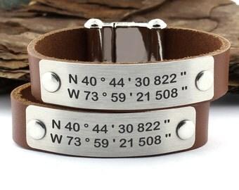 Personalized Coordinate Bracelet, Latitude Longitude Bracelet, gps Bracelet, Couple Bracelet, anniversary bracelet, Personalized gifts
