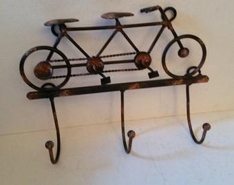 Bike key holder hooks