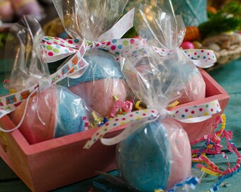 Cotton Candy Bath Bombs- Spring Bath Bomb, Spring Gifts, Bath Fizzies - Bath Fizz - Gifts for Kids - Easter Basket Goodies