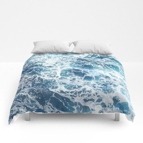 Blue Water Comforter Ocean Duvet Cover Full Queen King Sea