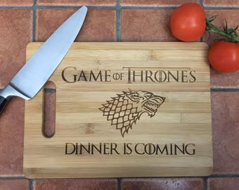 Game of Thrones 'Dinner is Coming' Custom Cutting board