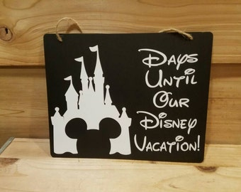Chalkboard Countdown to Disney Vacation