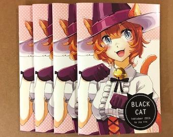 Black Cat: Inktober Artbook | anime prints, anime drawing, manga art, art zine, comic zine, halloween art, ink drawing