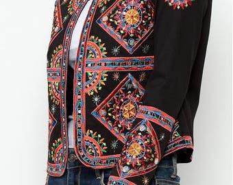 SHANTI embroidered jacket coat women colorful embroidery ethnic trendy beautiful fashion stylish fashionista feminine