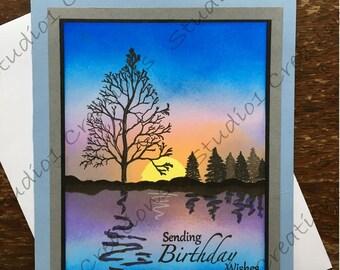 Birthday Card -- Serenity on the Lake