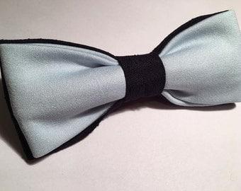 Blue and light blue PAPILLON bow tie men adjustable bowtie