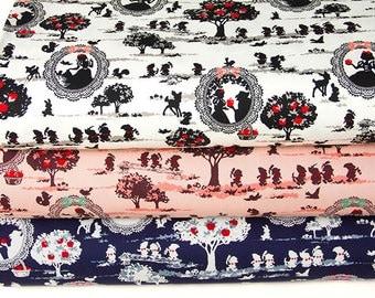 Japanese Kokka Oxford Cotton Fabric  Snow White