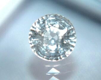 Ceylon Natural White Sapphire Round Cut 6mm Loose Gemstone