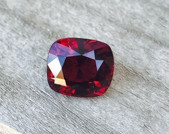 Natural Rhodolite Garnet  Cushion Cut