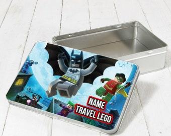 Lego Tin, Kids Tin, Custom Kids, Kids Gift, Fun, Lego Building, Play On The Go, Custom Add Kids Names