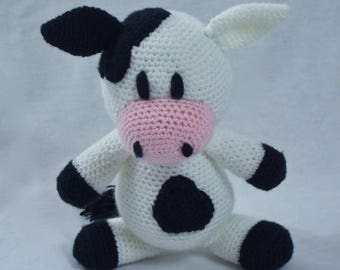 Crochet Cow Toy - Wisconsin Spotted