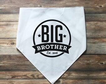 Dog Big Brother Bandana - Dog Pregnancy Announcement - Personalized Dog Bandana - Dog Baby Announcement - New Baby Announcement - Pet