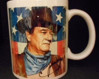 John Wayne Signature mug