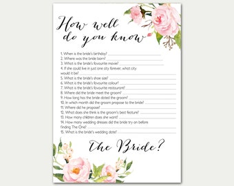 Inventive image regarding how well do you know the bride printable