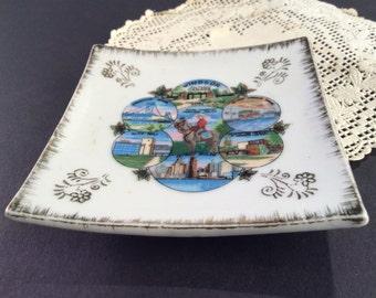 Vintage ceramic Windsor Ontario Canada souvenir dish, vintage ceramic vintage travel souvenir vintage Windsor Ontario vintage Canada