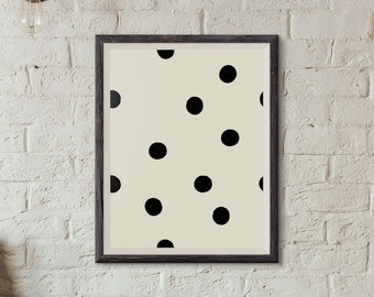 Polka Dots Poster, Printable Art, Minimalist Poster, Dots Print, Home Decor, Wall Art, Art Print, Poster, Abstract Art, Instant Download