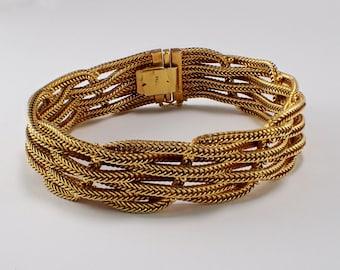 18k Yellow Gold Mesh Bracelet